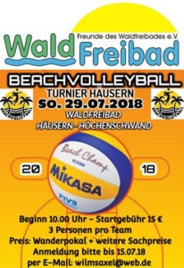 Beachvolleyballturnier 2018