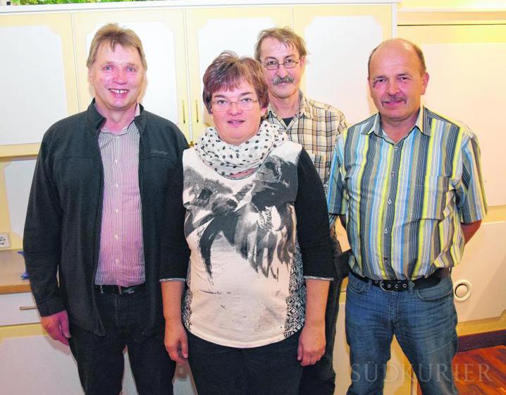 Der geschäftsführende Vorstand des Fördervereines (von links): Reinhold Maier, Martina Zeissler-Fromm, Fritz Kellner und Rainer Schwinkendorf. Bild: Stefan Pichler